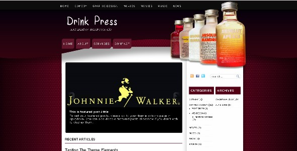 Drink Press Free WordPress Magazine Theme